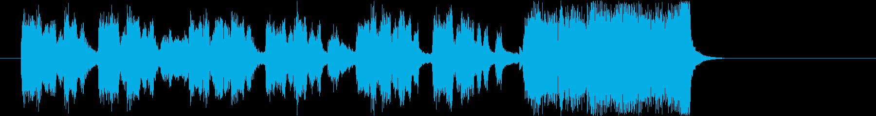 ビッグバンドのジングル3key=Bbの再生済みの波形