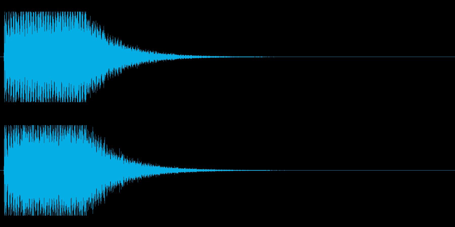 レーザー音-152-2の再生済みの波形