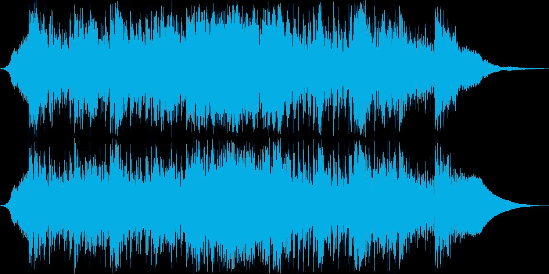 和を感じさせる緊迫したリズムとサウンドの再生済みの波形
