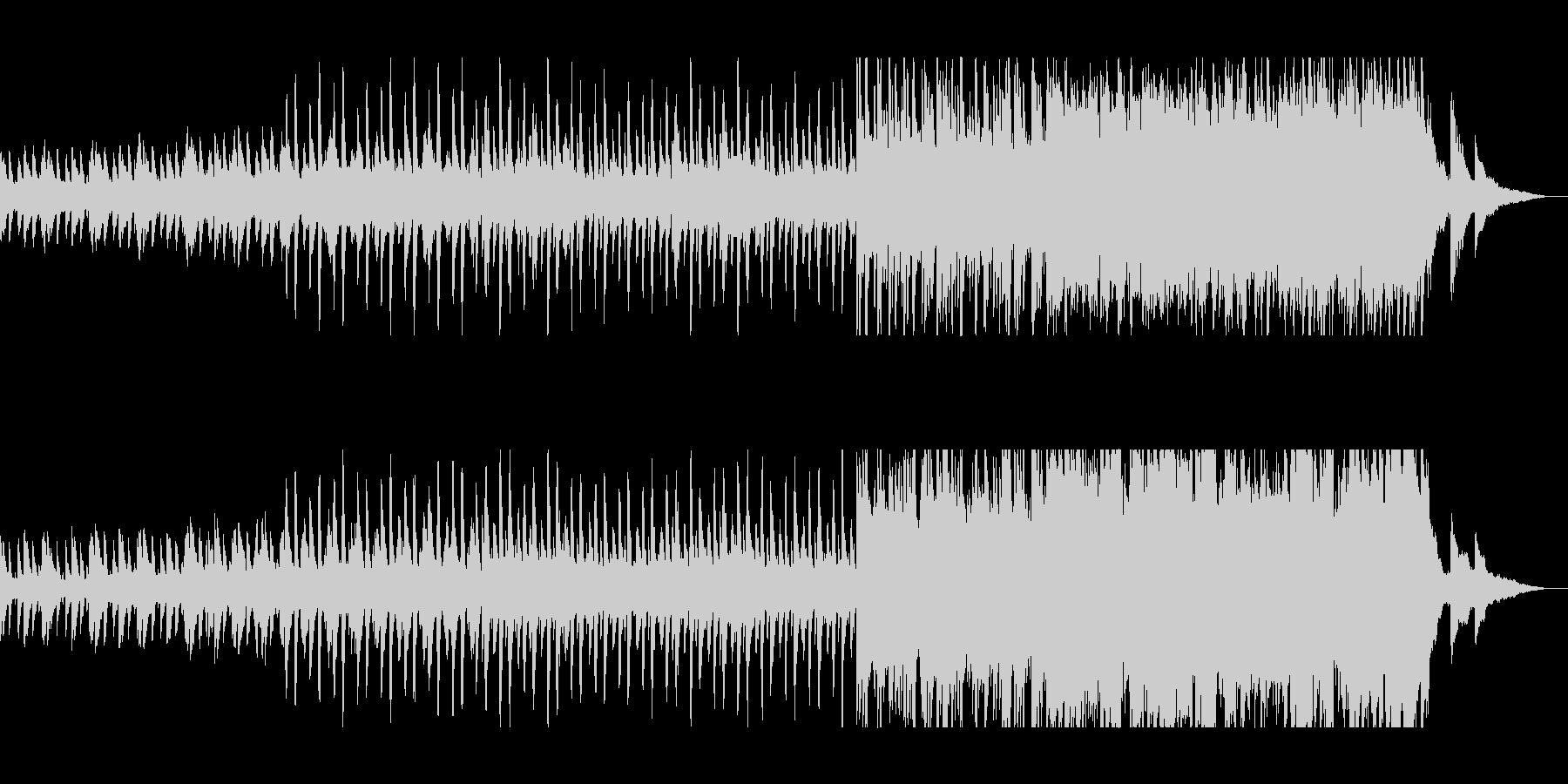 ピアノとストリングスのポリリズムの未再生の波形