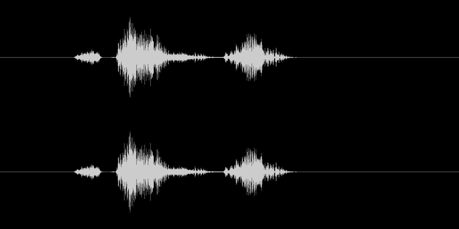 ステージツー(メカニカルな男性ボイス)の未再生の波形