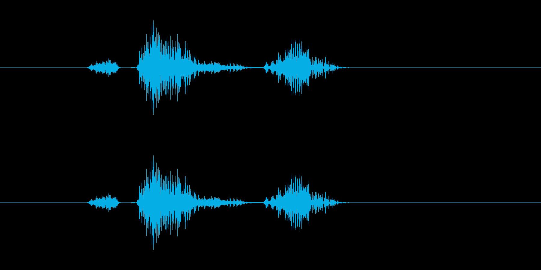 ステージツー(メカニカルな男性ボイス)の再生済みの波形