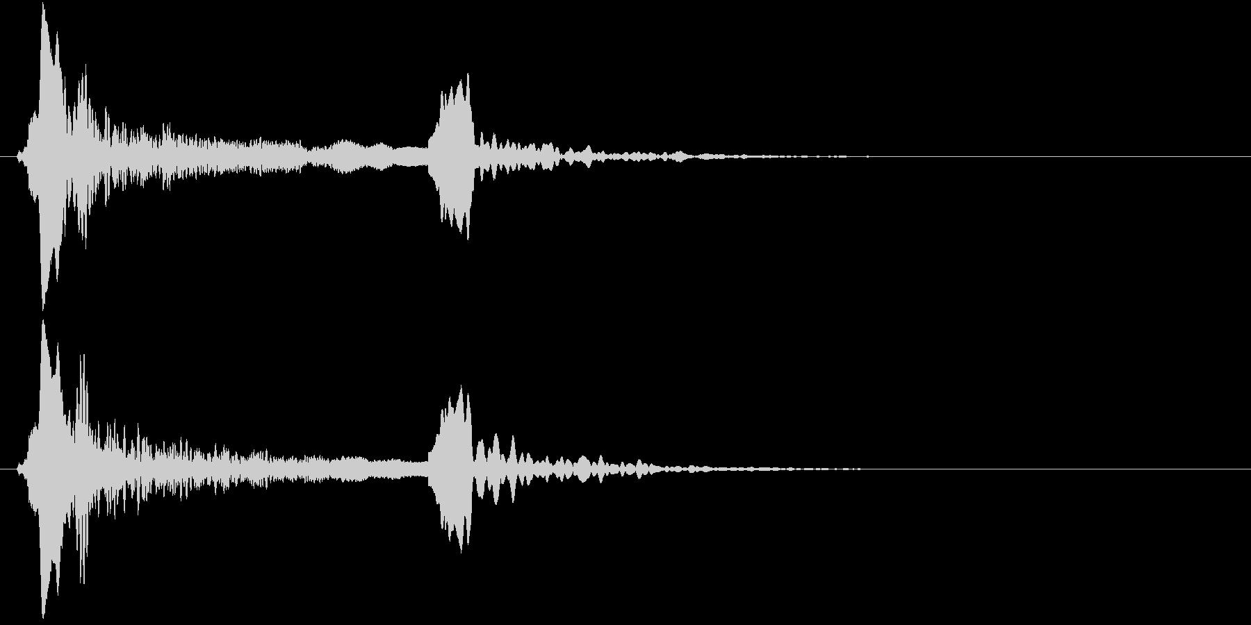 「ピィーピッ」能管ひしぎ、短め+リバーブの未再生の波形