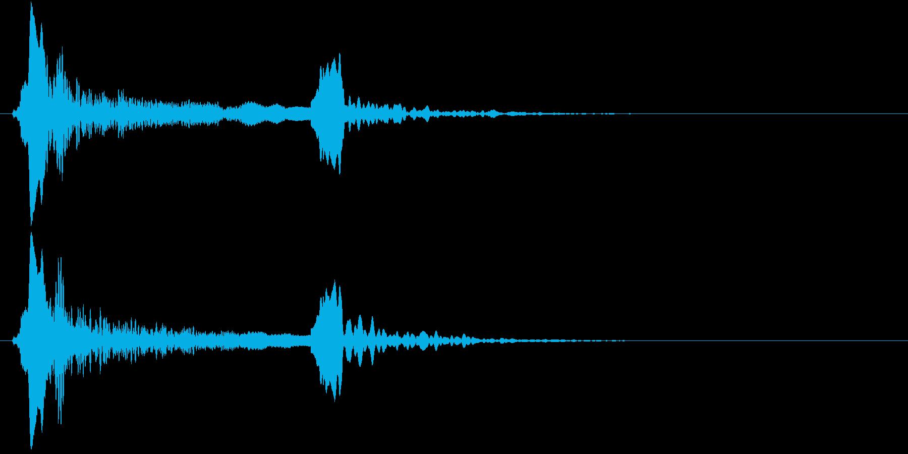 「ピィーピッ」能管ひしぎ、短め+リバーブの再生済みの波形