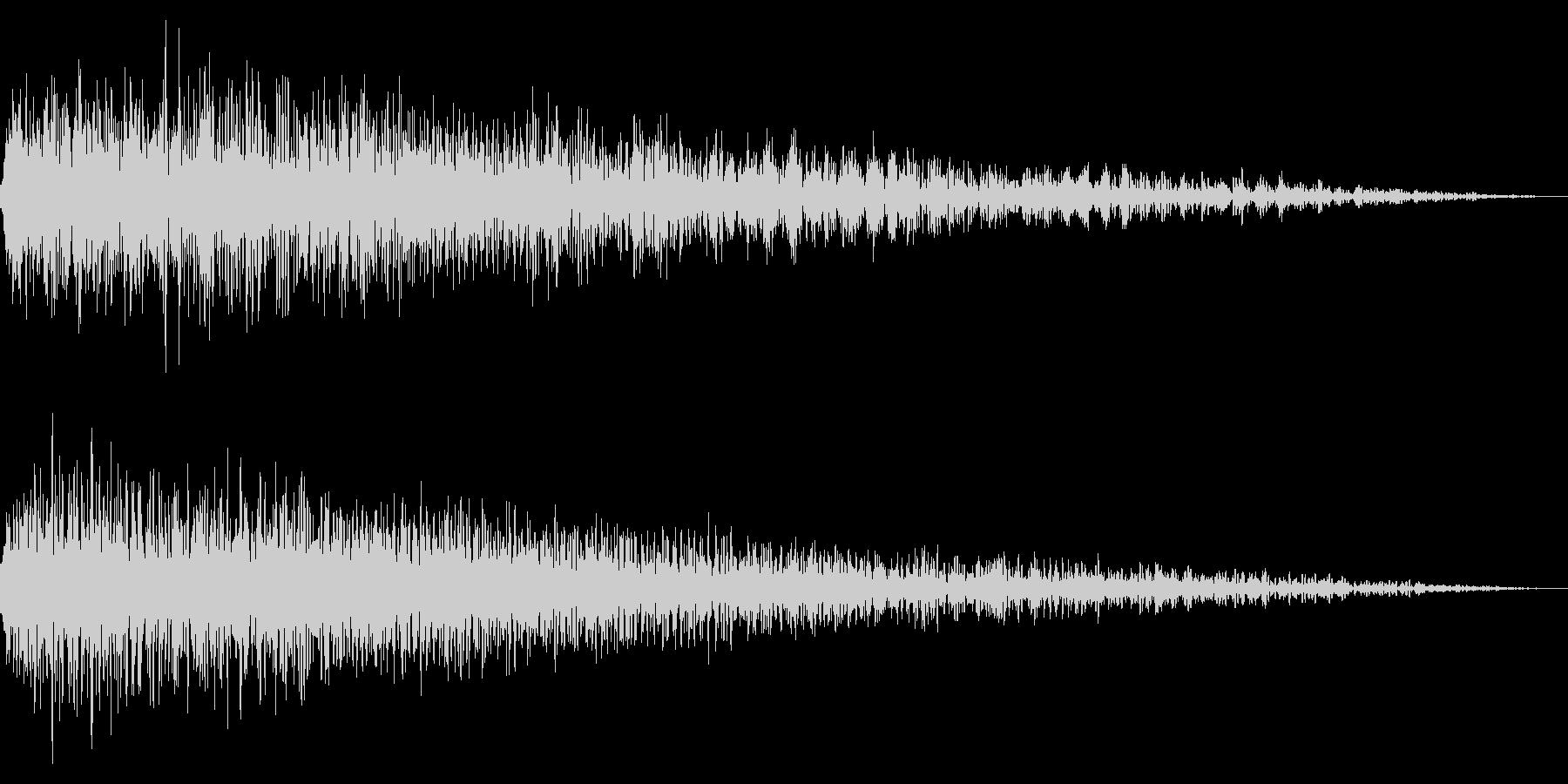 ホラー系アタック音63の未再生の波形