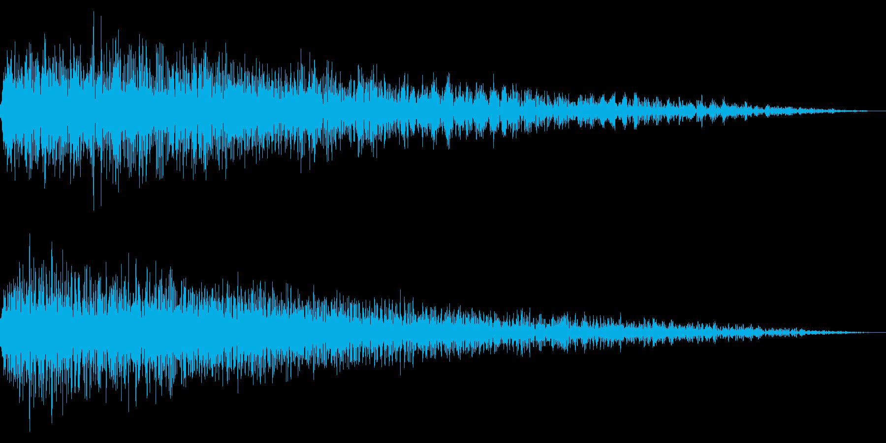 ホラー系アタック音63の再生済みの波形