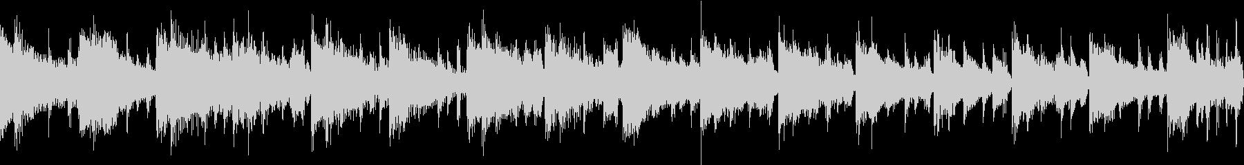 控えめなフュージョン調の曲の未再生の波形