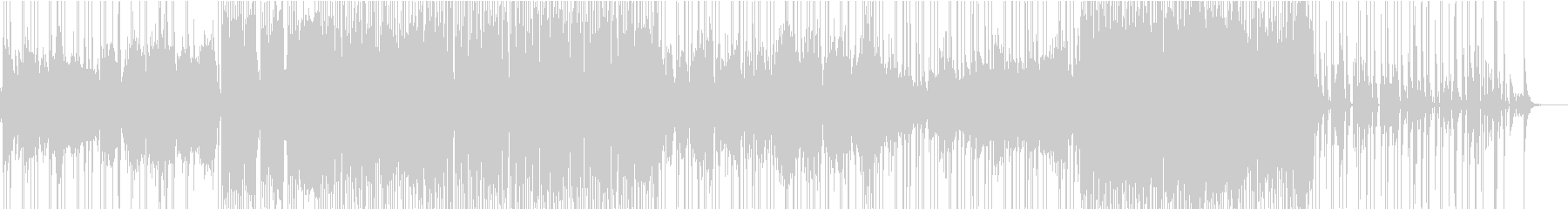 ドラムがテクニカルな曲の未再生の波形