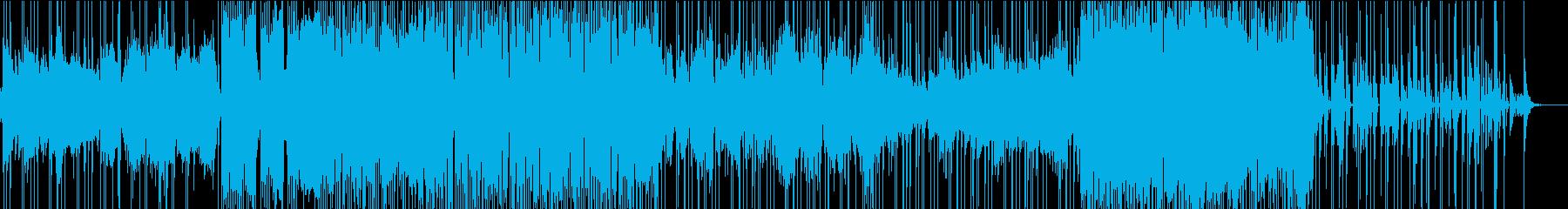 ドラムがテクニカルな曲の再生済みの波形