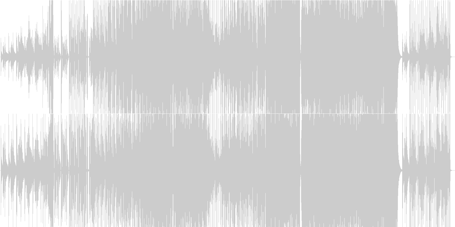 tick tick awayの未再生の波形