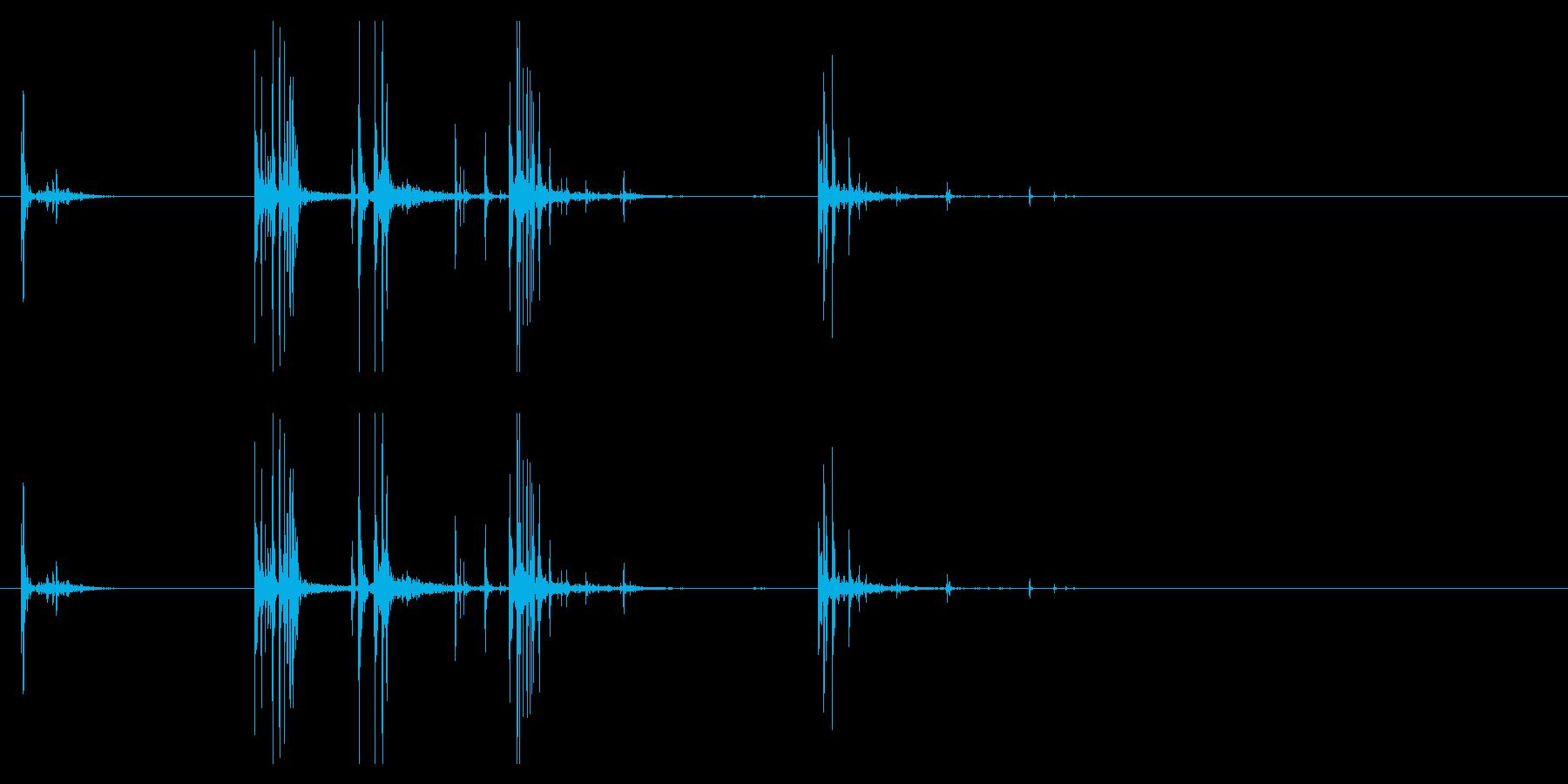 【生録音】サイコロを手の中で弄ぶ・持つの再生済みの波形