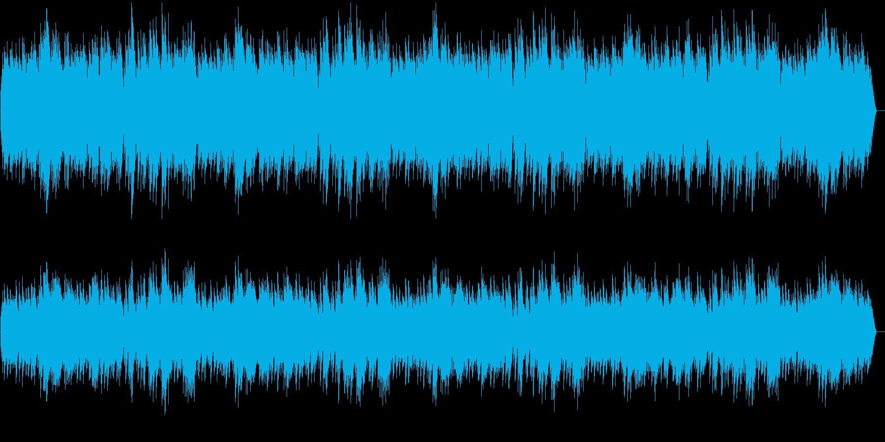 悲しい雰囲気のゆっくりなメロディーの再生済みの波形