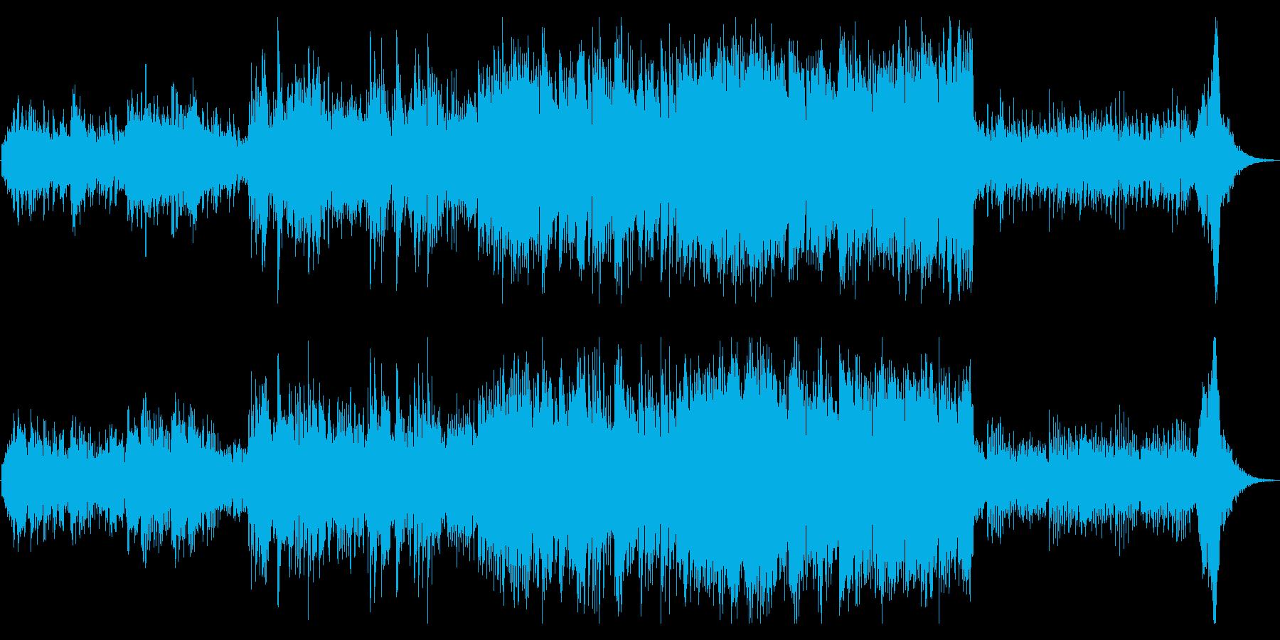 穏やかで広がりのあるアンビエント調の曲の再生済みの波形