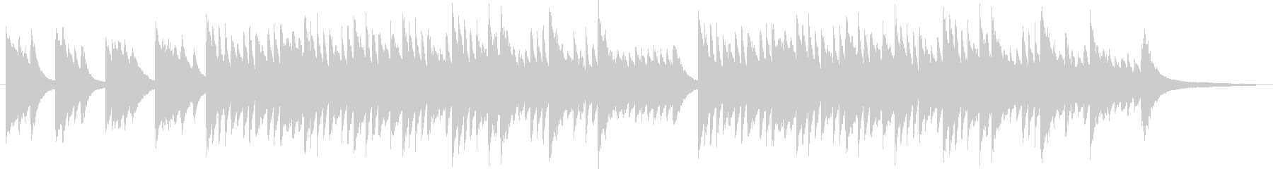ピアノ ソロの未再生の波形