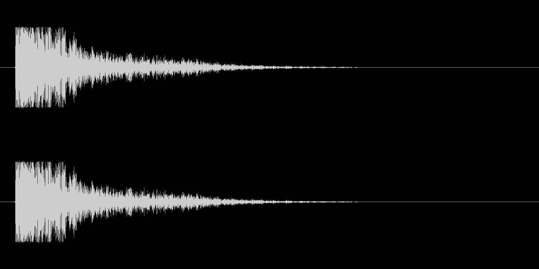 【大砲01-2】の未再生の波形