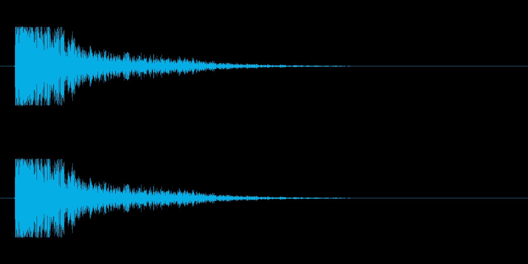 【大砲01-2】の再生済みの波形