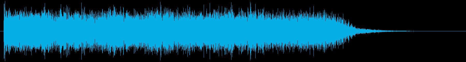 メタルギターのクールなフレーズ 場面転換の再生済みの波形