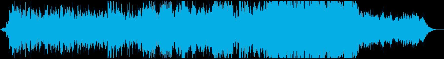退廃的なホラーBGMの再生済みの波形