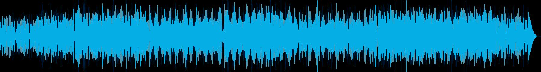フルートとピアノが絡む夏のサンバの再生済みの波形