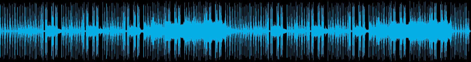 スパイ映画風の怪しく緊張感のあるBGMの再生済みの波形