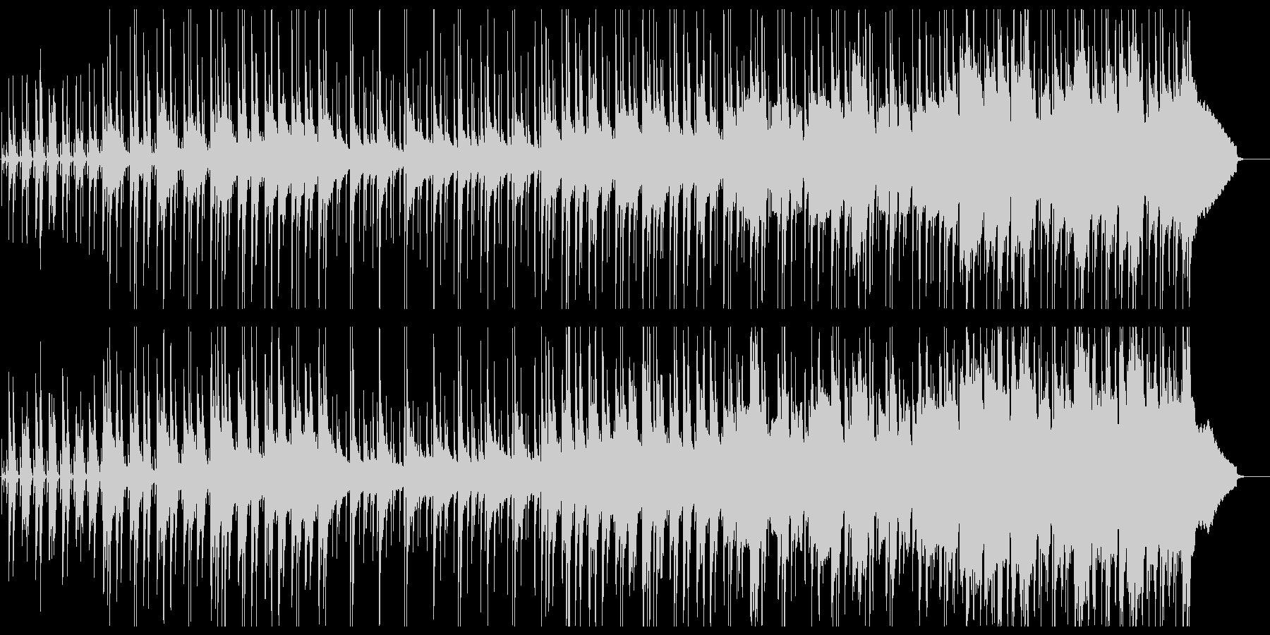 ウクレレと鉄琴・木琴のハワイアン風ポップの未再生の波形
