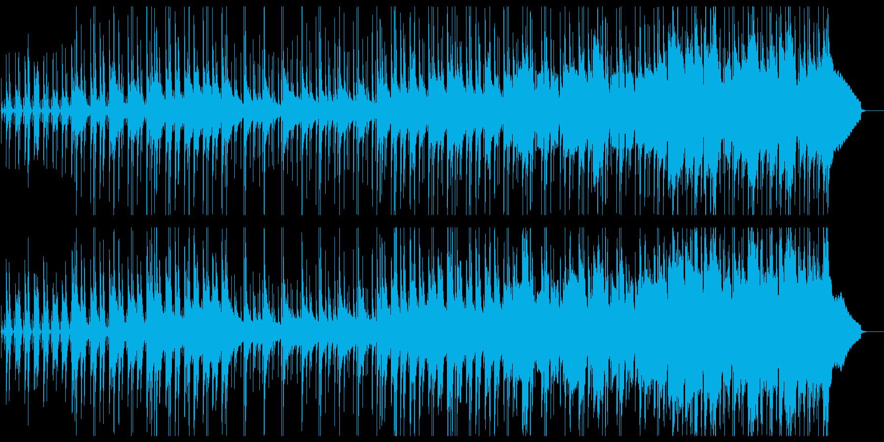 ウクレレと鉄琴・木琴のハワイアン風ポップの再生済みの波形
