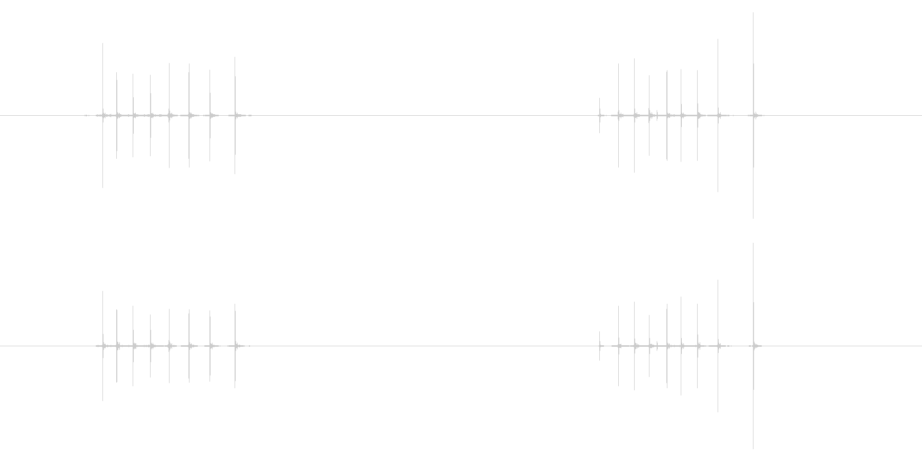 【録音】カッターの出し入れ音の未再生の波形
