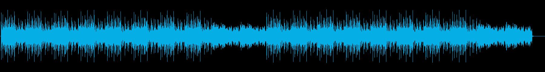 幻想的な音と土着的なリズムの再生済みの波形