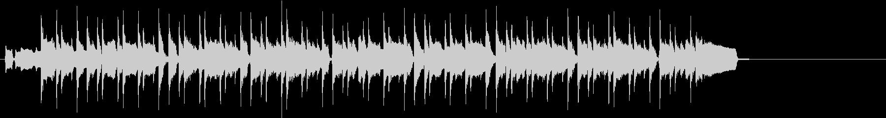 フルート主旋律のボサノヴァジングルの未再生の波形