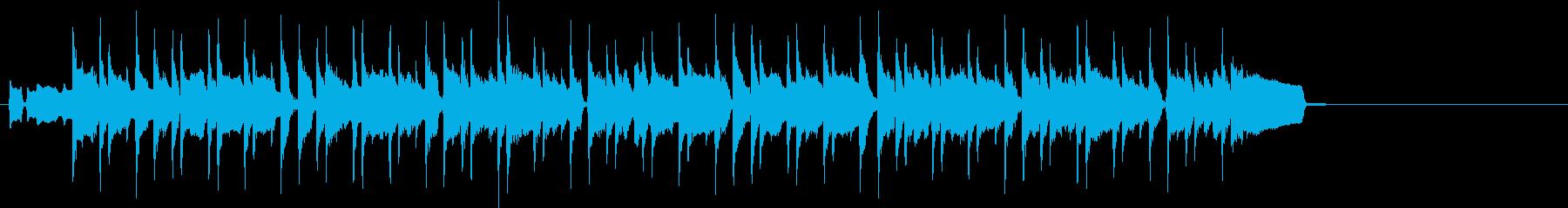 フルート主旋律のボサノヴァジングルの再生済みの波形
