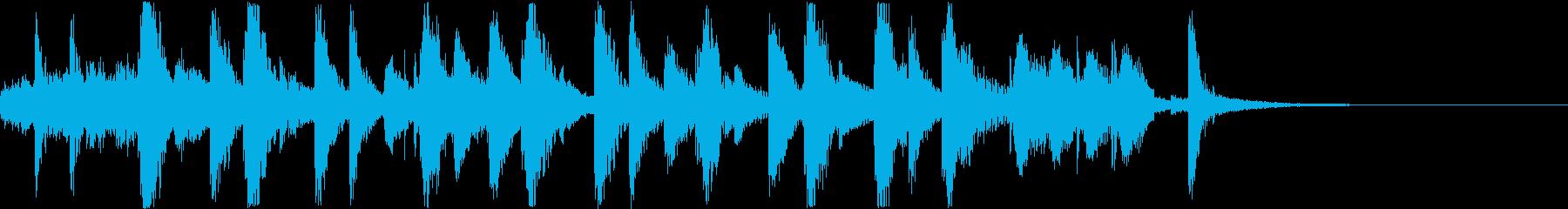 メルヘンでかわいい動画向きジングルの再生済みの波形