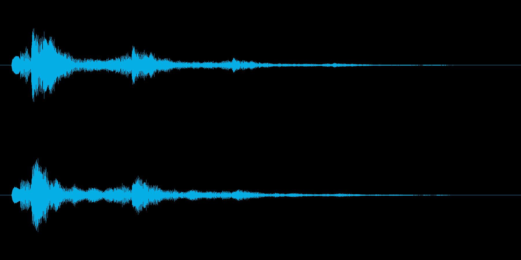 【ショートブリッジ01-2】の再生済みの波形