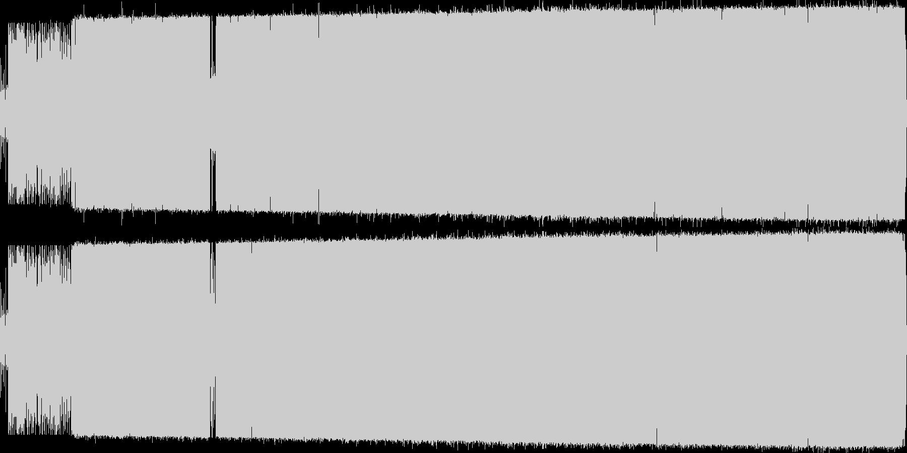オシャレでノリの良い日本語ラップの未再生の波形