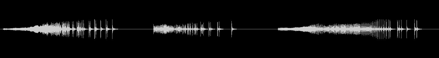 うめき声の未再生の波形