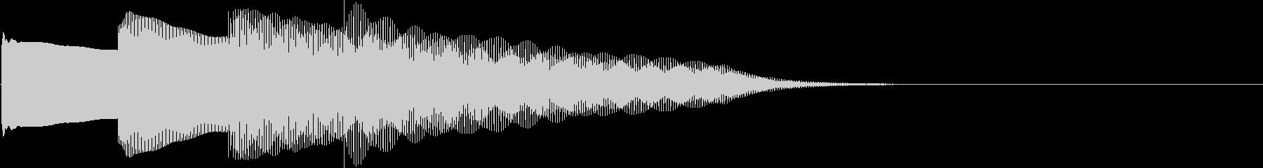 ピンポンパンポン、終了時の下降形。鉄琴の未再生の波形