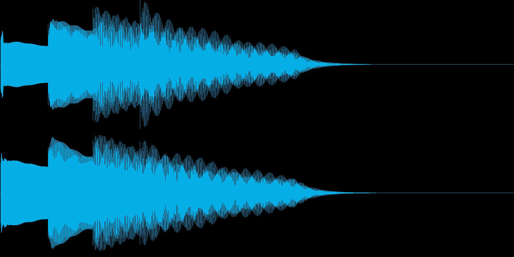 ピンポンパンポン、終了時の下降形。鉄琴の再生済みの波形