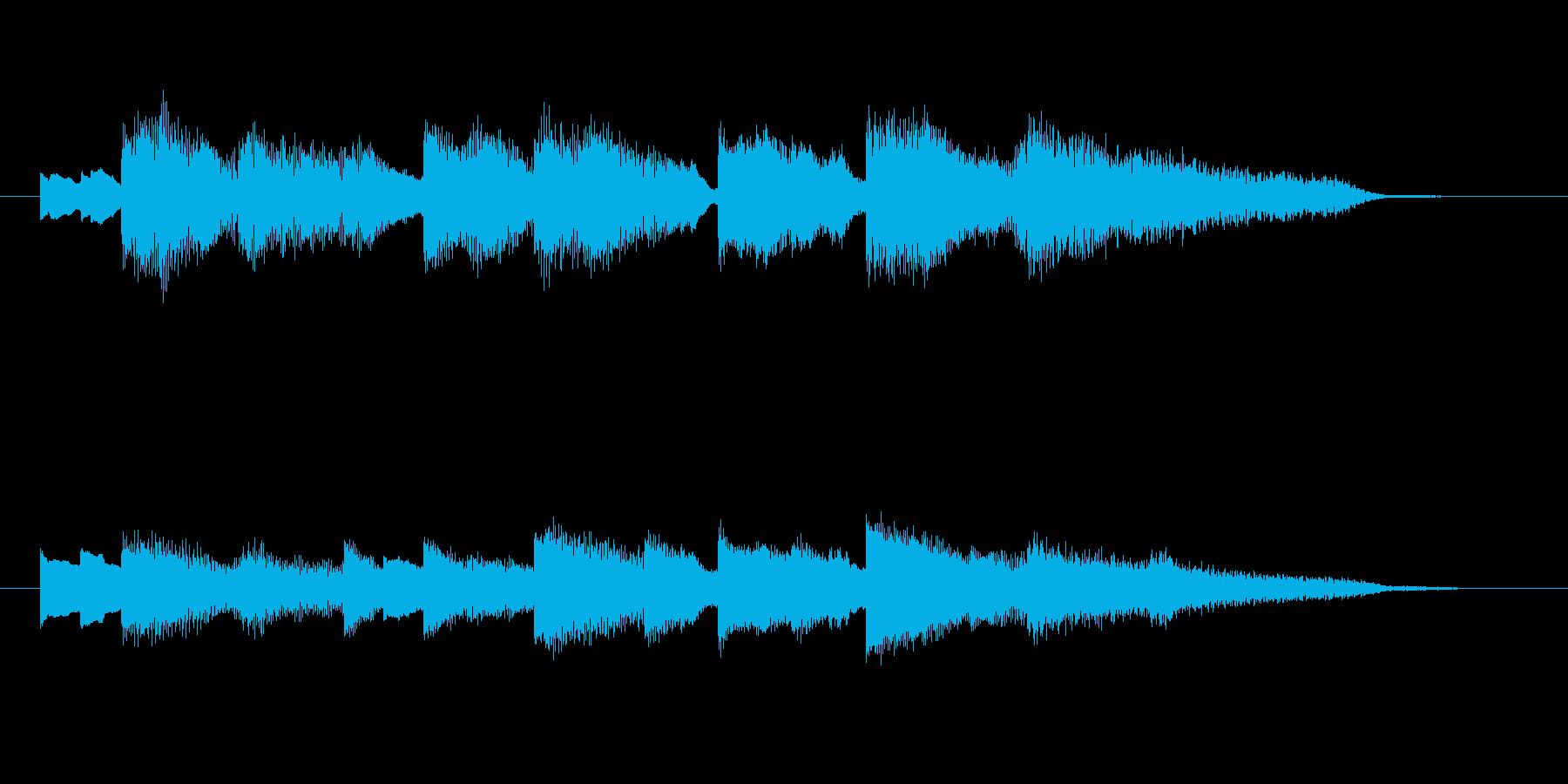 ゲームオーバーのジングル(エレピ)の再生済みの波形