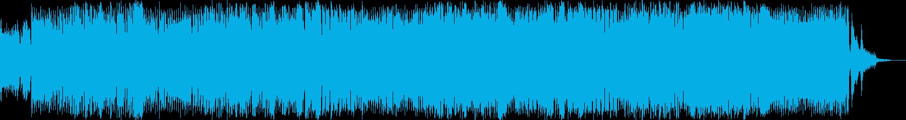 エレキギター主体のポップスの再生済みの波形