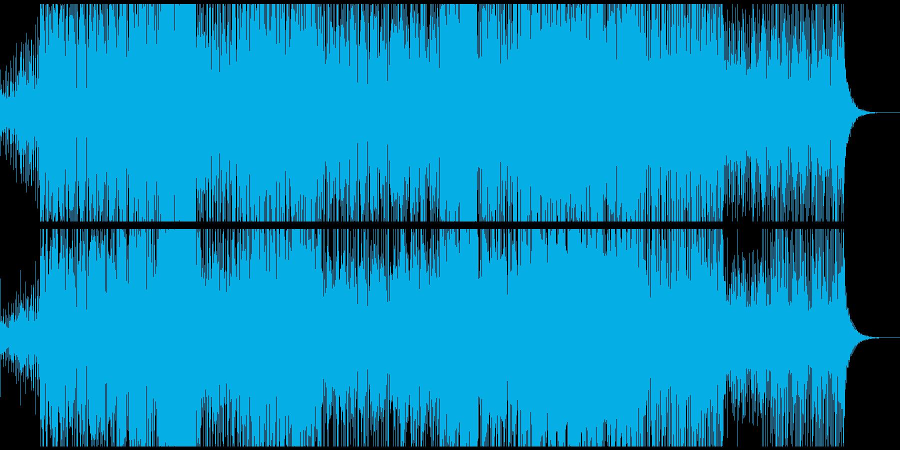 悲し気なメロディと疾走感が特徴的なEDMの再生済みの波形