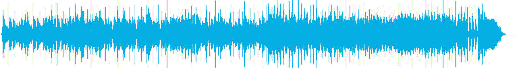 CM、スラップベースでの高揚感ある楽曲の再生済みの波形