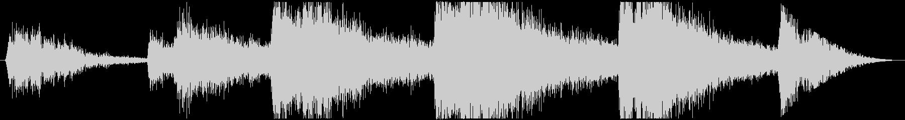 雨の音06(ゲリラ豪雨)の未再生の波形