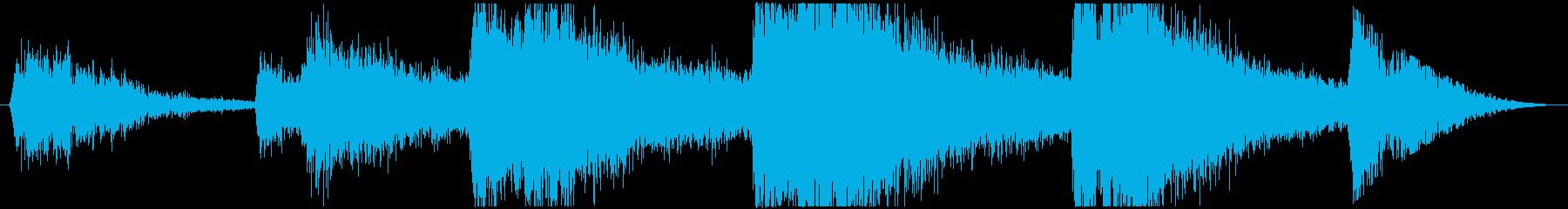 雨の音06(ゲリラ豪雨)の再生済みの波形