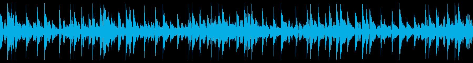 ファンキーなリズムのテクノポップの再生済みの波形