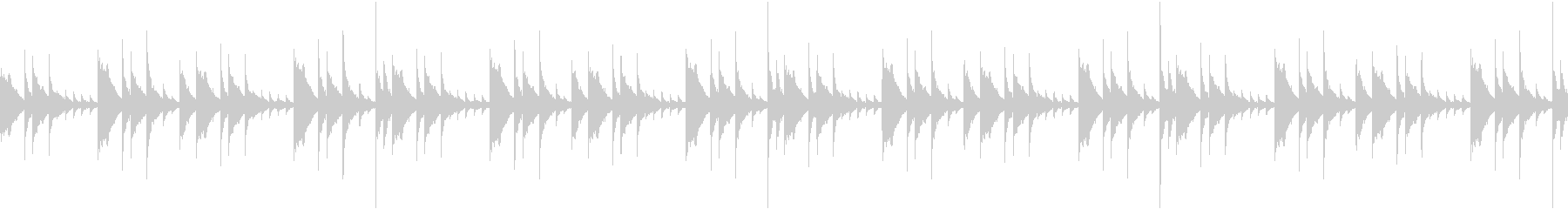 少しダークなハンドパンBGMの未再生の波形