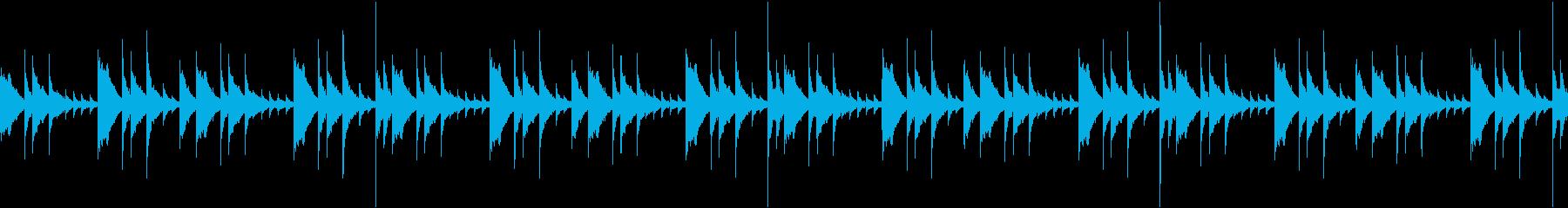 少しダークなハンドパンBGMの再生済みの波形