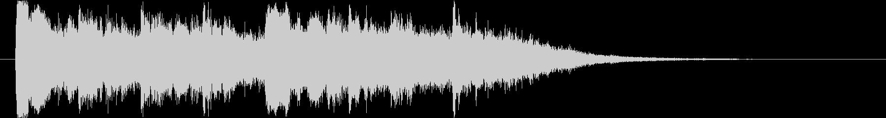 幻想的なクリスタルサウンドのショートロゴの未再生の波形