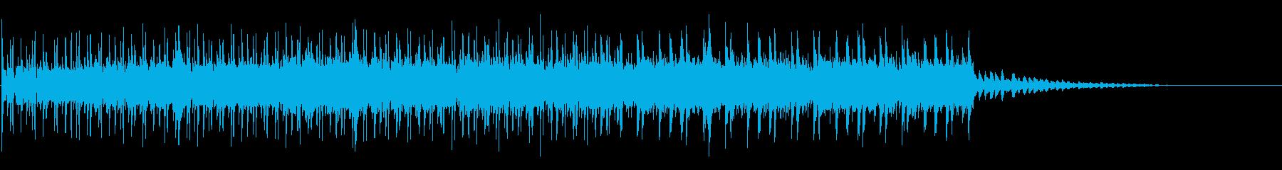 スリリングな場面が似合うBGMの再生済みの波形