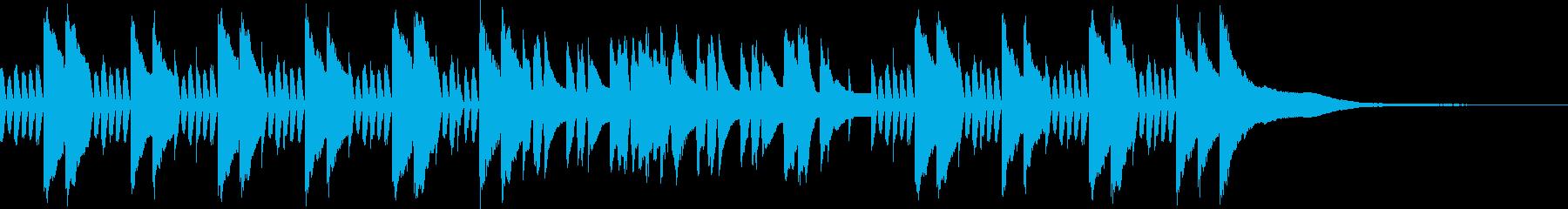 ほのぼのとした雰囲気のピアノBGMの再生済みの波形