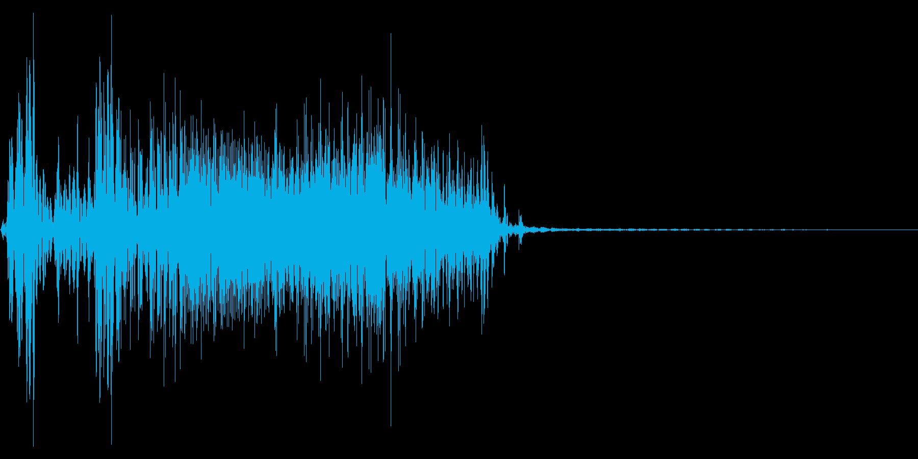ジッパー、ファスナーを開ける音1-2の再生済みの波形