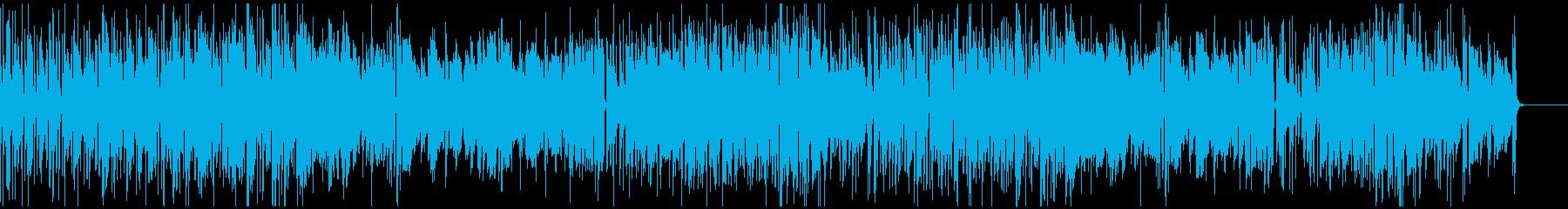 ハネのリズムが印象的な軽快な楽曲の再生済みの波形